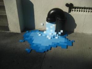 Pixel-Wasser