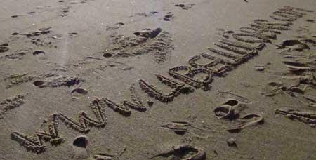 Spuren im Sand…